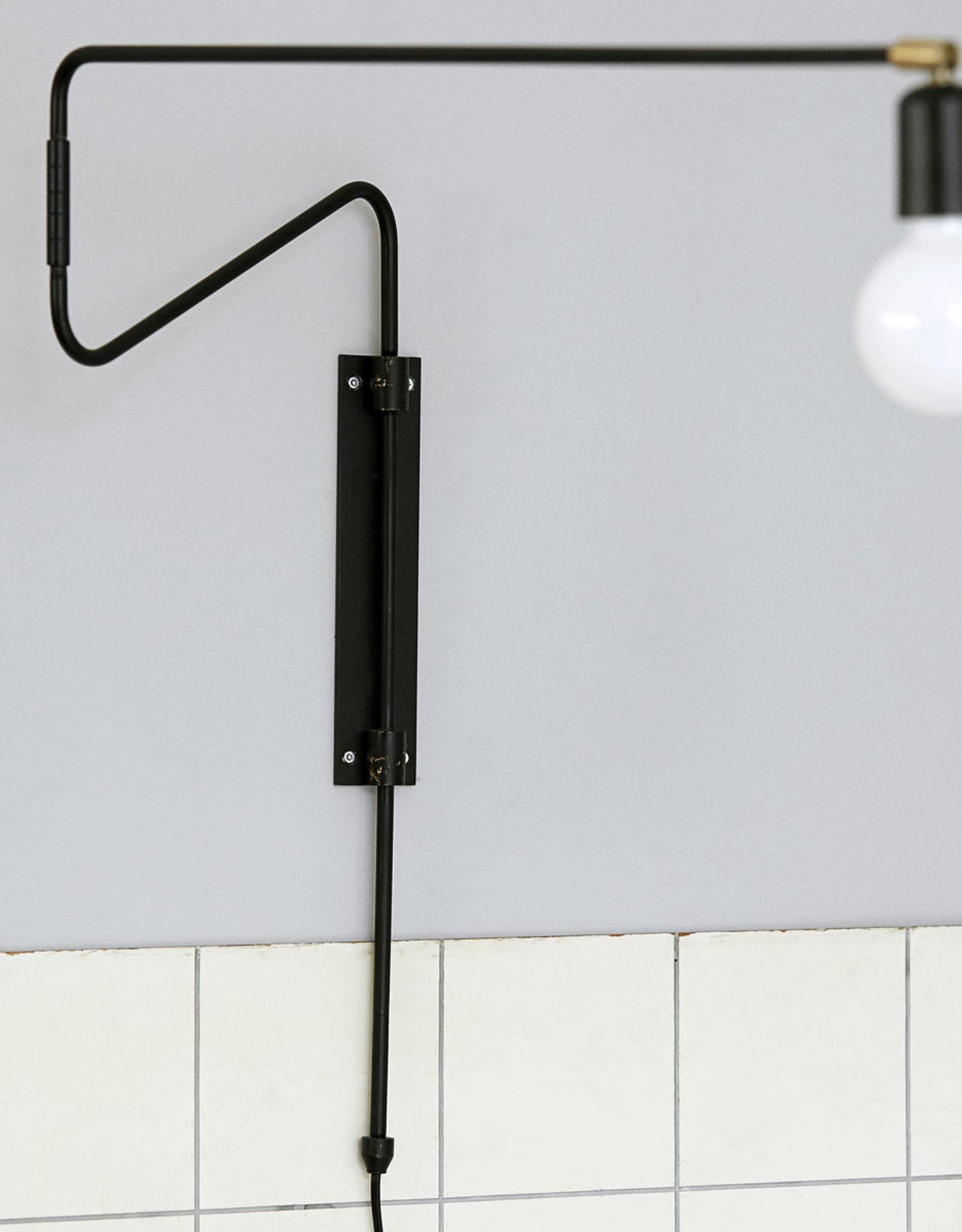House Doctor wandlamp 'Swing - zwart