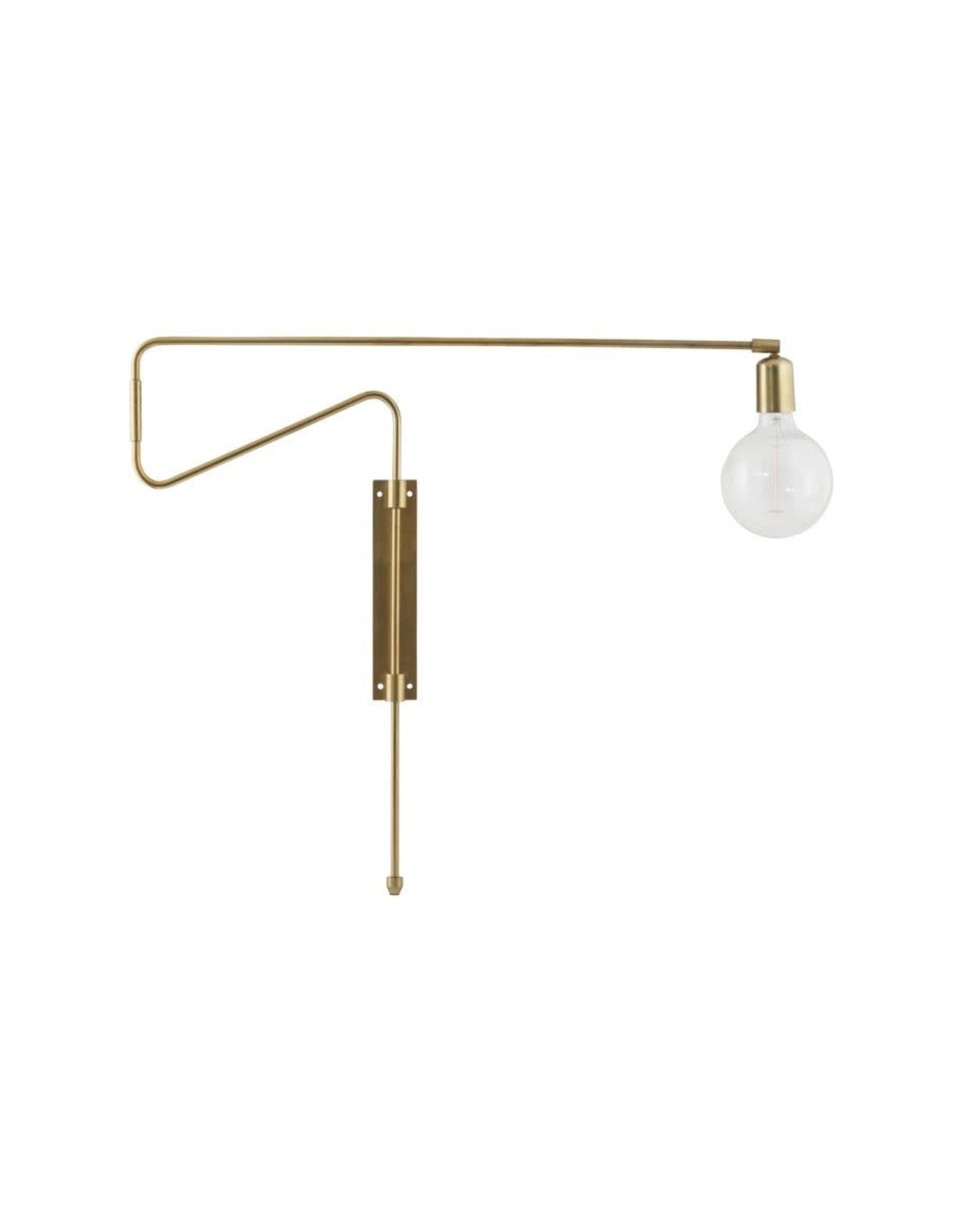 House Doctor wandlamp 'Swing - brass