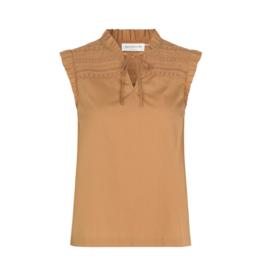 Rosemunde 'Leo' blouse organic cotton - Almond