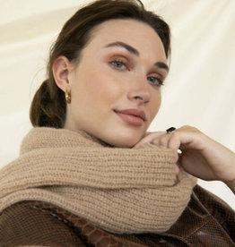 Leselles Copy of sjaal 'Jille'  - rusty brown