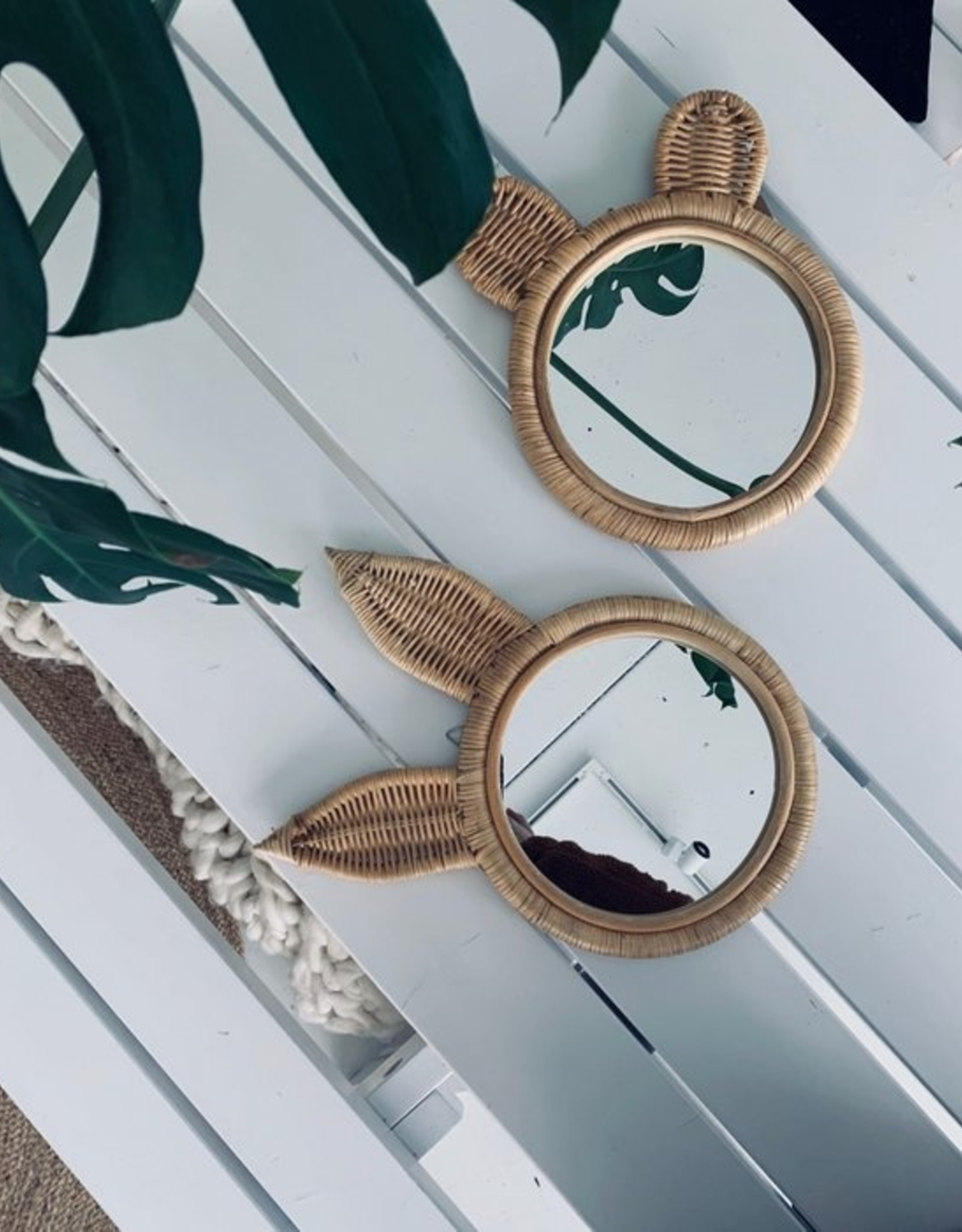 spiegel 'Bunny' - rotan