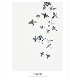 My Deer Art Shop A5 Mini Art Print - Flying High Art Print