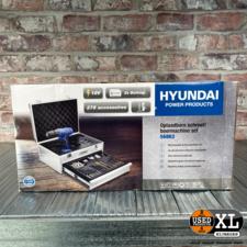 Hyundai D018-18v Accu Boormachine | incl Lader + 2x Accu + Bits en Boorset | Nieuw