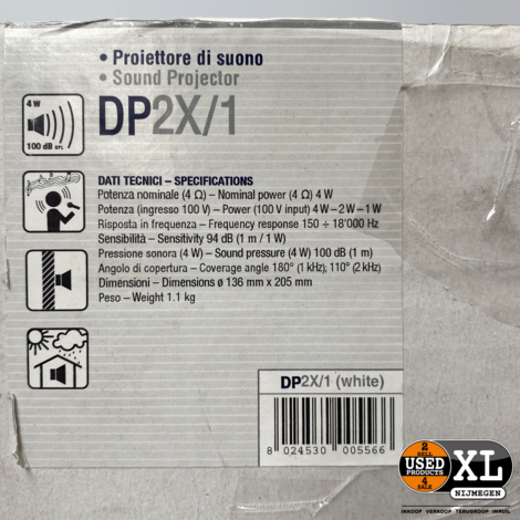 RCF DP2X Plafond Wand Luidspreker | Nieuw in Doos