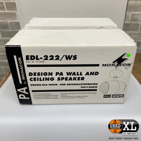 Monacor EDL-222/WS Plafond Wand Luidspreker | Nieuw in Doos