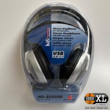 Monacor MD-800 USB Koptelefoon | Nieuw in Doos