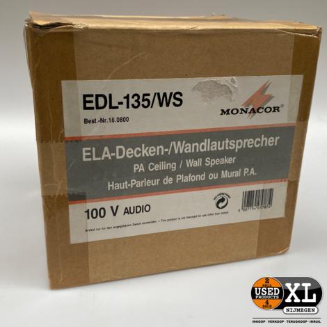 Monacor EDL-135/WS Plafond Wand Luidpspreker | Nieuw
