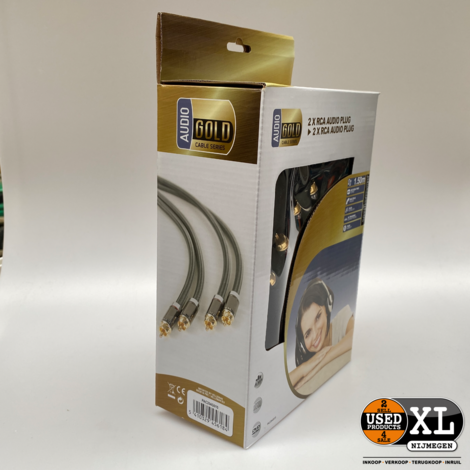 Professionele Interlink Gold Plated Audio RCA Kabels | Nieuw