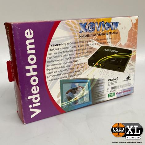 Video S-video Audio Naar VGA Monitor Converter | Nieuw in Doos