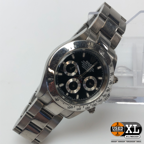 Homage Heren Horloge Daytona Zwart | incl Garantie