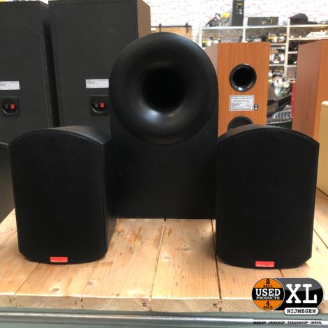 B & W Rock Solid Speakers + Sub   incl Garantie