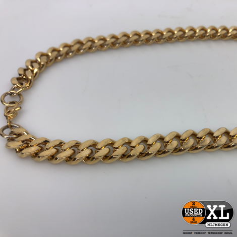 Gourmet Schakel Ketting 46cm Gold Plated | ZGAN