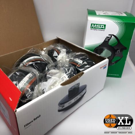 MSA 3S Volgelaatsmasker incl 10 x RD40 Filters | Nieuw