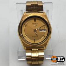 Horloge Seiko 5 Automatic Goud | met Garantie