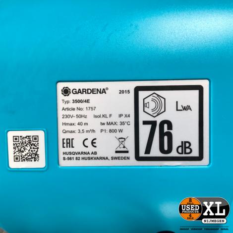 Gardena 3500/4E Hydrofoorpomp   incl Garantie
