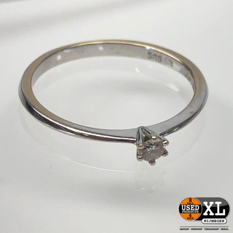 Verlovingsring 14k Wit Goud | Nette Staat