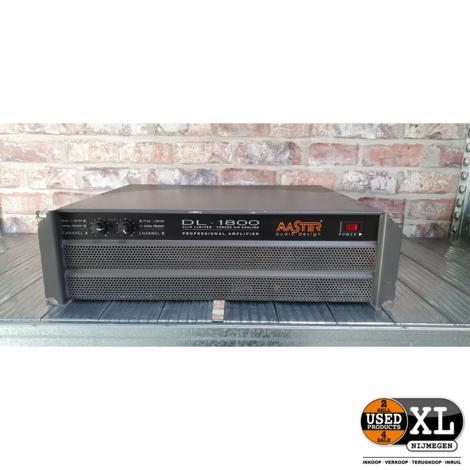 Master Audio DL1800 Power Amplifier   met Garantie