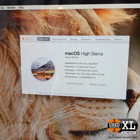 Macbook Pro 2011 8GB 15 inch | met Garantie