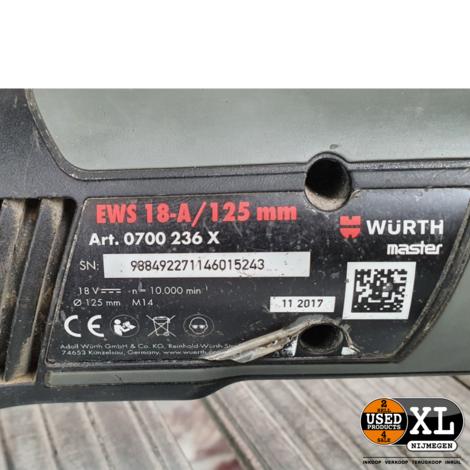 Würth EWS 18-A/125 MM Haakse Slijper | met Garantie
