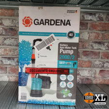 Gardena Batterij Regentonpomp 2000/2 18v | incl Garantie