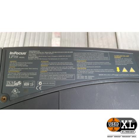 InFocus LP755 LCD Projector   met Garantie