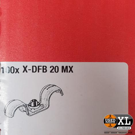 Hilti dubbele haakbeugel X-DFB 20 MX 100 Stuks | Nieuw in Doos