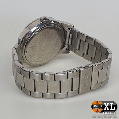 Esprit Zilveren Unisex Horloge   met Garantie