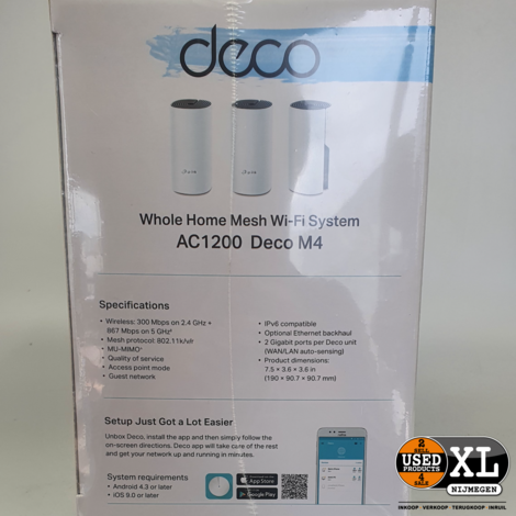 TP-Link AC1200 Whole Home Mesh WIFI-System Deco M4   Nieuw in Doos