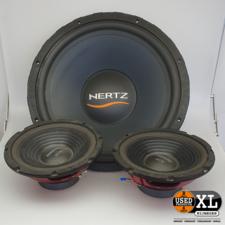 Hertz Energy ES 380 Subwoofer + Speakers   met Garantie