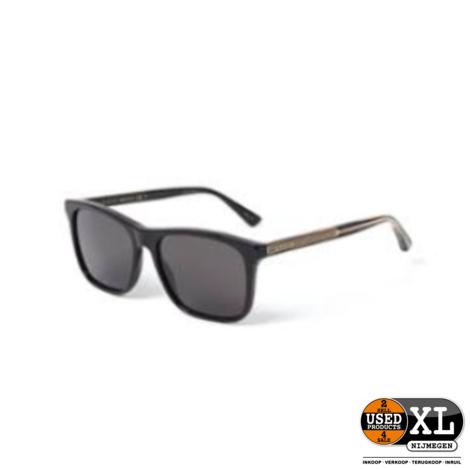 Gucci GG0381S 57MM Black Zonnebril | Nieuw