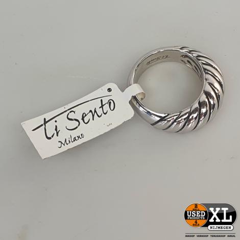 Ti Sento Milano Zilveren Ring   Nieuw