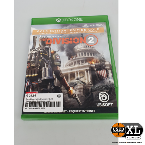 Tom Clancy's the Division 2 Gold Edition Xbox One Game   met Garantie