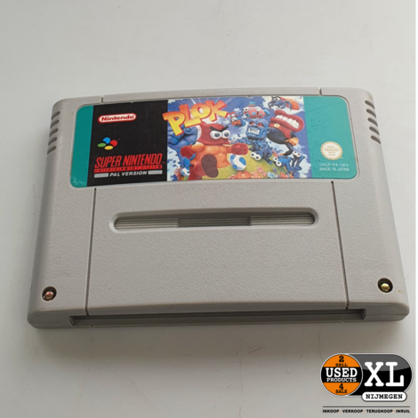 Plok Super Nintendo Game   met Garantie