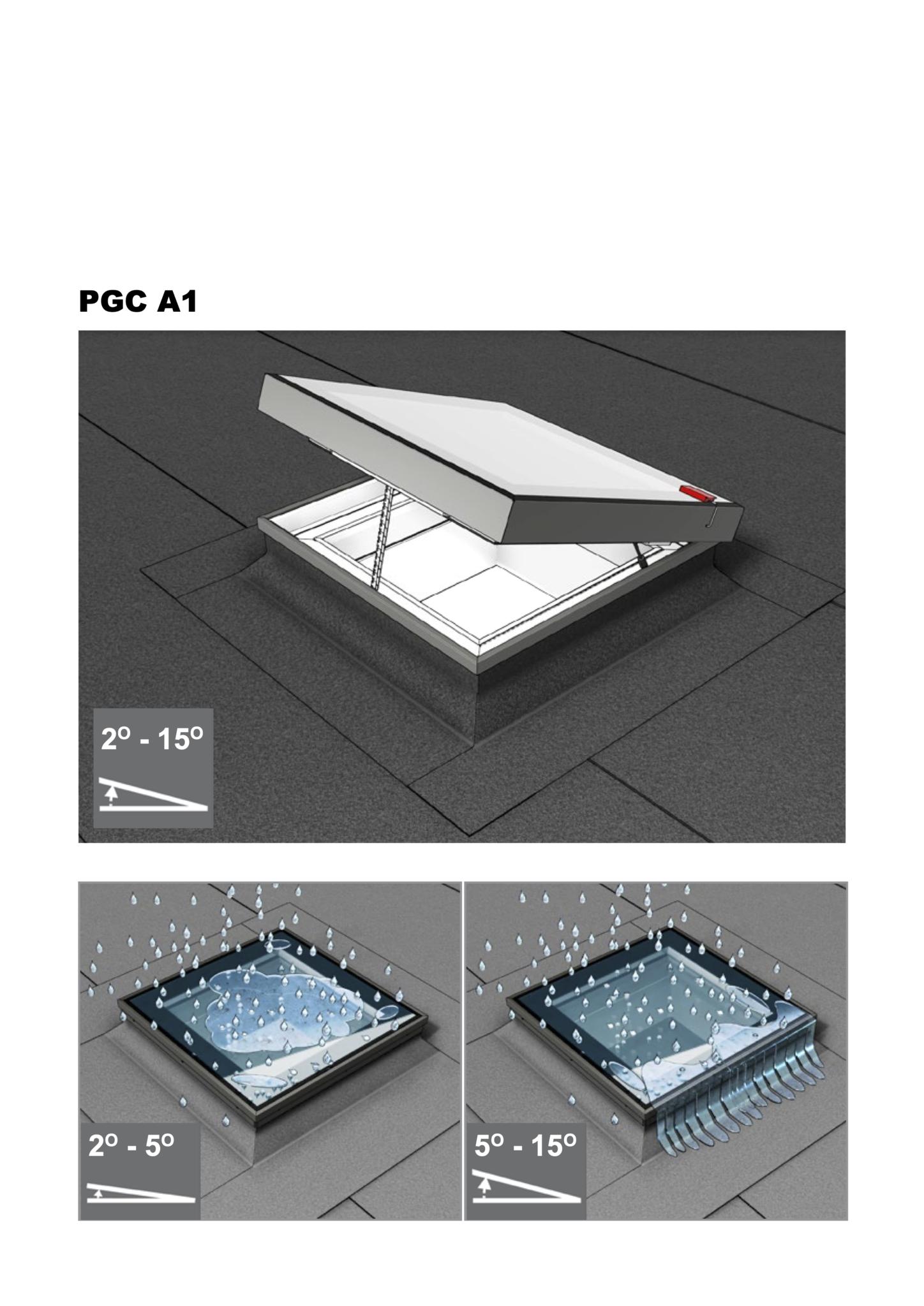 Intura montagehandleiding PGC serie elektrische platdakvensters