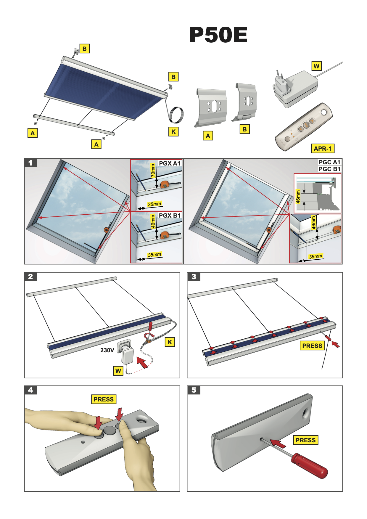 montage handleiding elektrisch bedienbaar plissé Intura platdakvensters