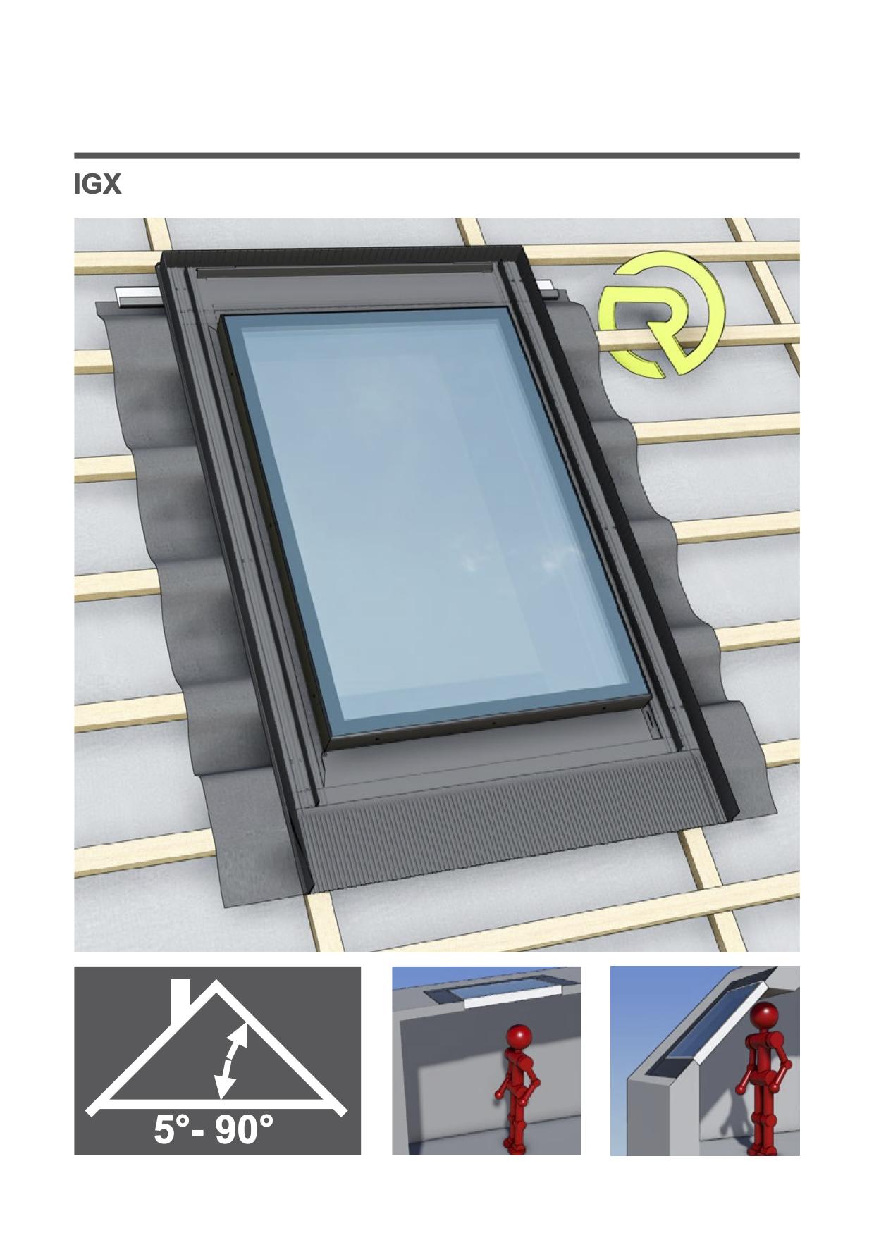 montage handleiding vast dakvenster Intura IGX F1