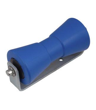 Kielrol met Steun Blauw 200 x 100 mm