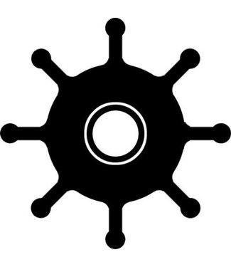 Impeller 13,96 x 40,70 x 23,35 mm / 8 schoepen