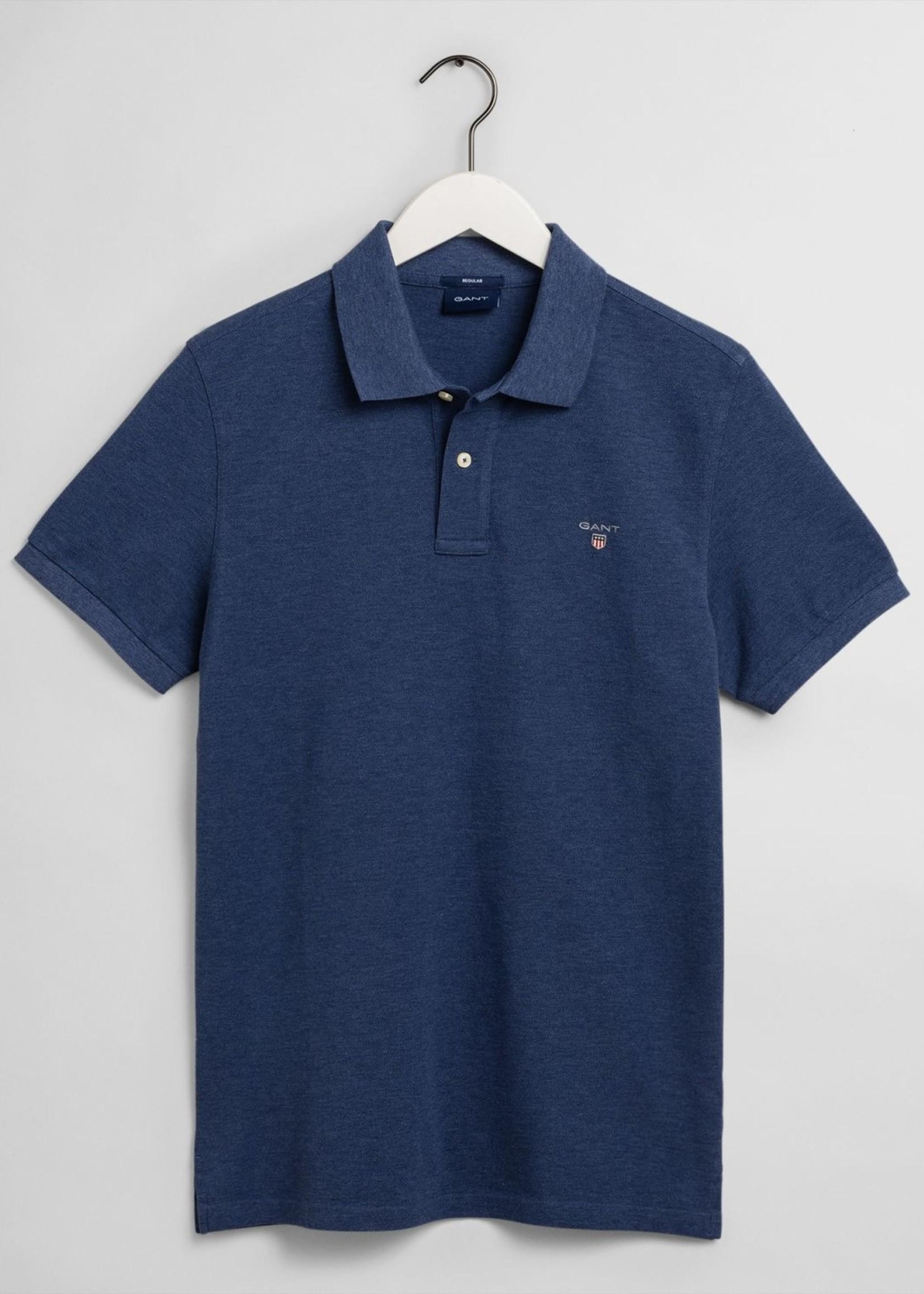 GANT Polo en coton piqué Original | Bleu marine | GANT