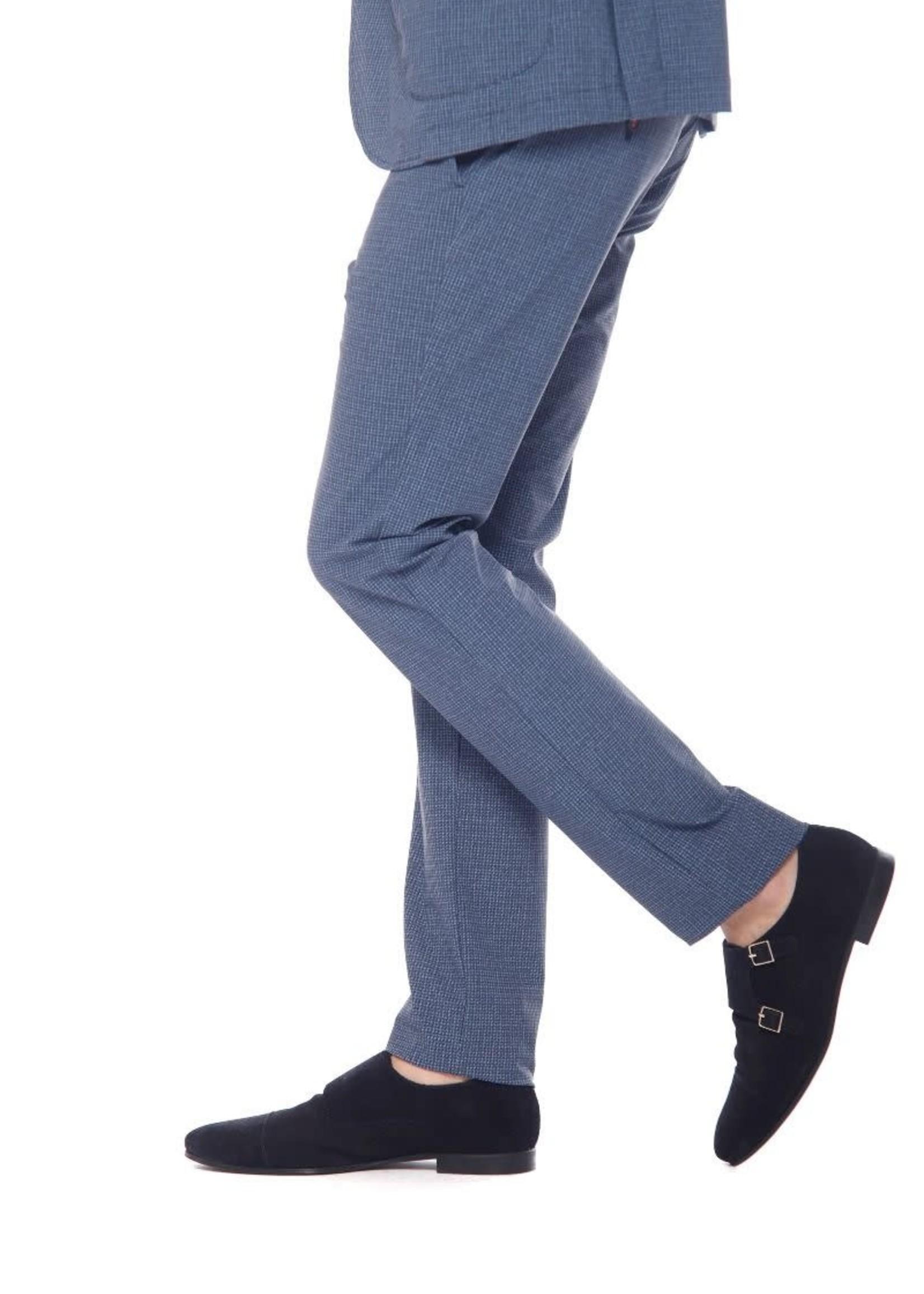 Mason's Pant super technical jersey slim fit | Blauw | Mason's