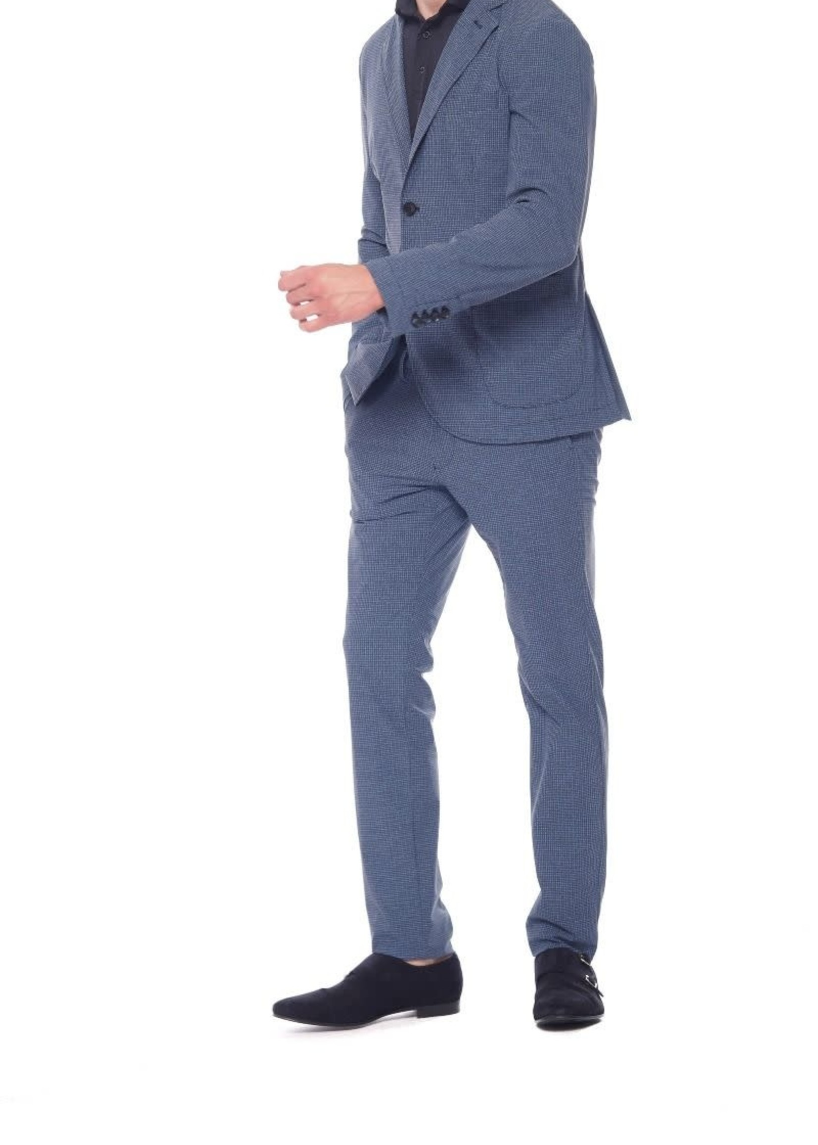 Mason's Pant super technical jersey slim fit | Blue Navy | Mason's