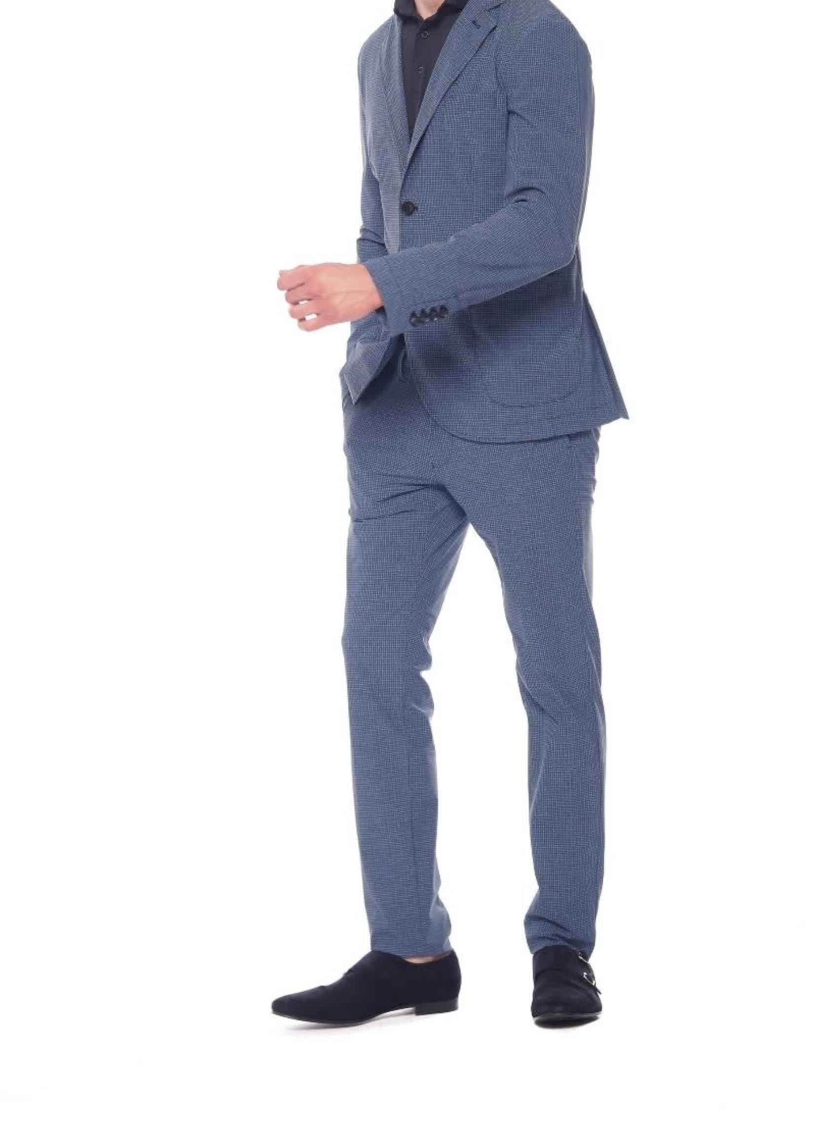 Mason's Pantalon en jersey super technique coupe slim | Bleu | Mason's