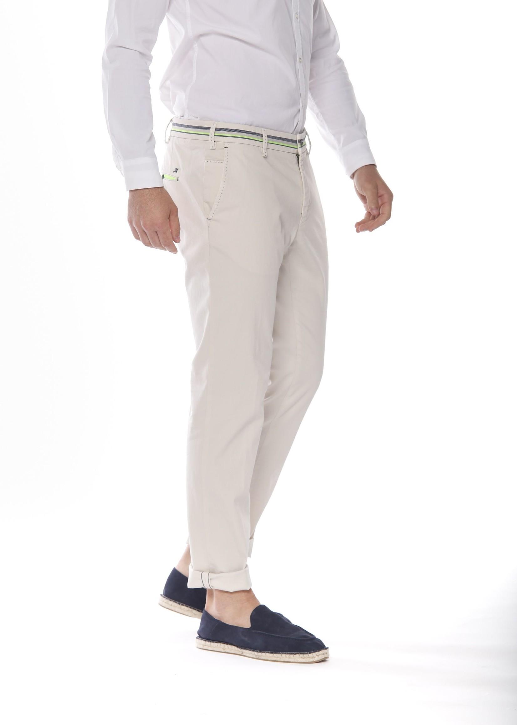 Mason's Pantalon en satin stretch coupe extra slim | Beige | Mason's