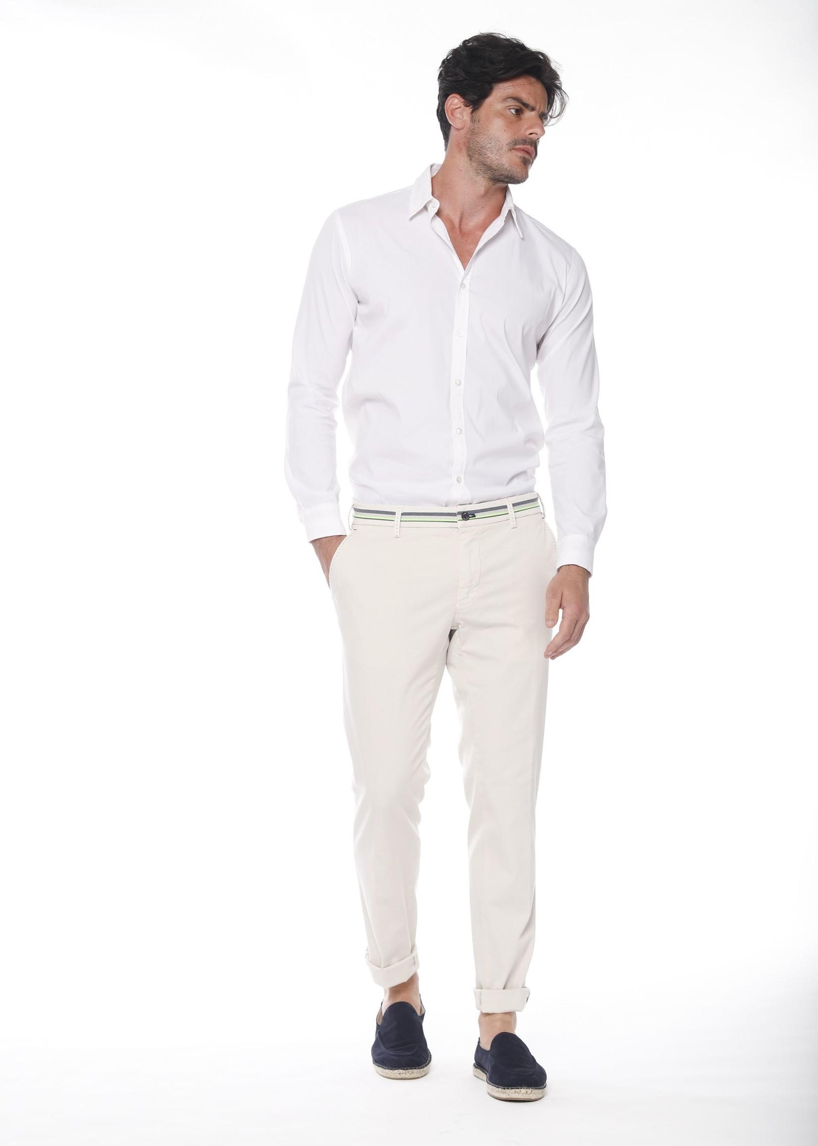 Mason's Pants stretch satin extra slim fit | Beige | Mason's
