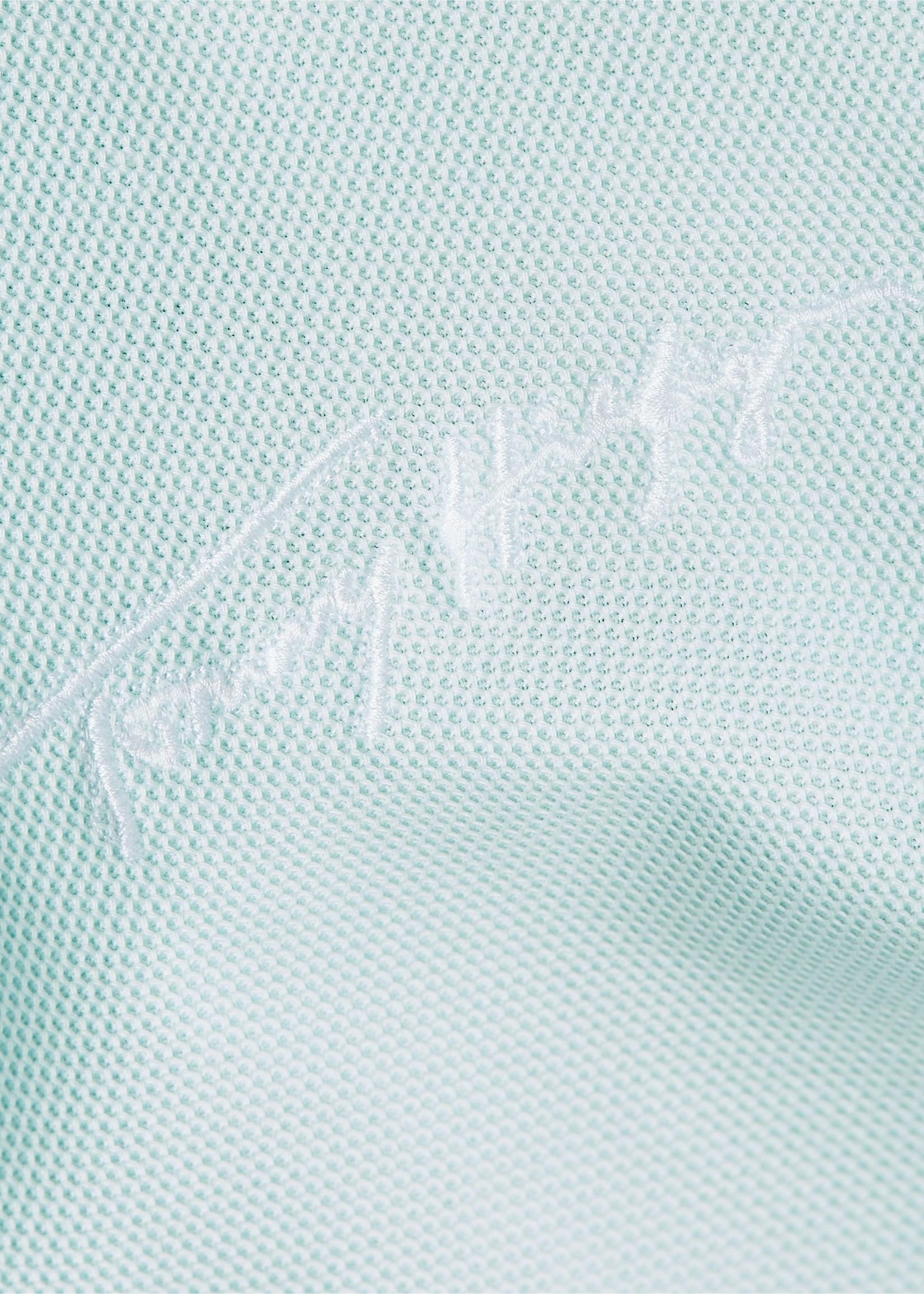 Tommy Hilfiger Polo en pur coton à liseré et logo | Vert clair | Tommy Hilfiger