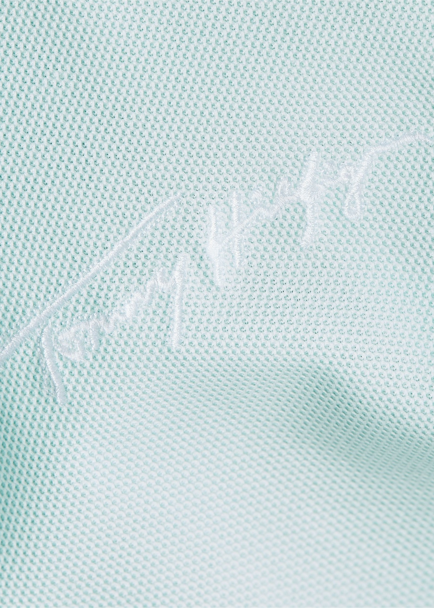 Tommy Hilfiger Polo van puur katoen met getipte kraag | Lichtgroen | Tommy Hilfiger