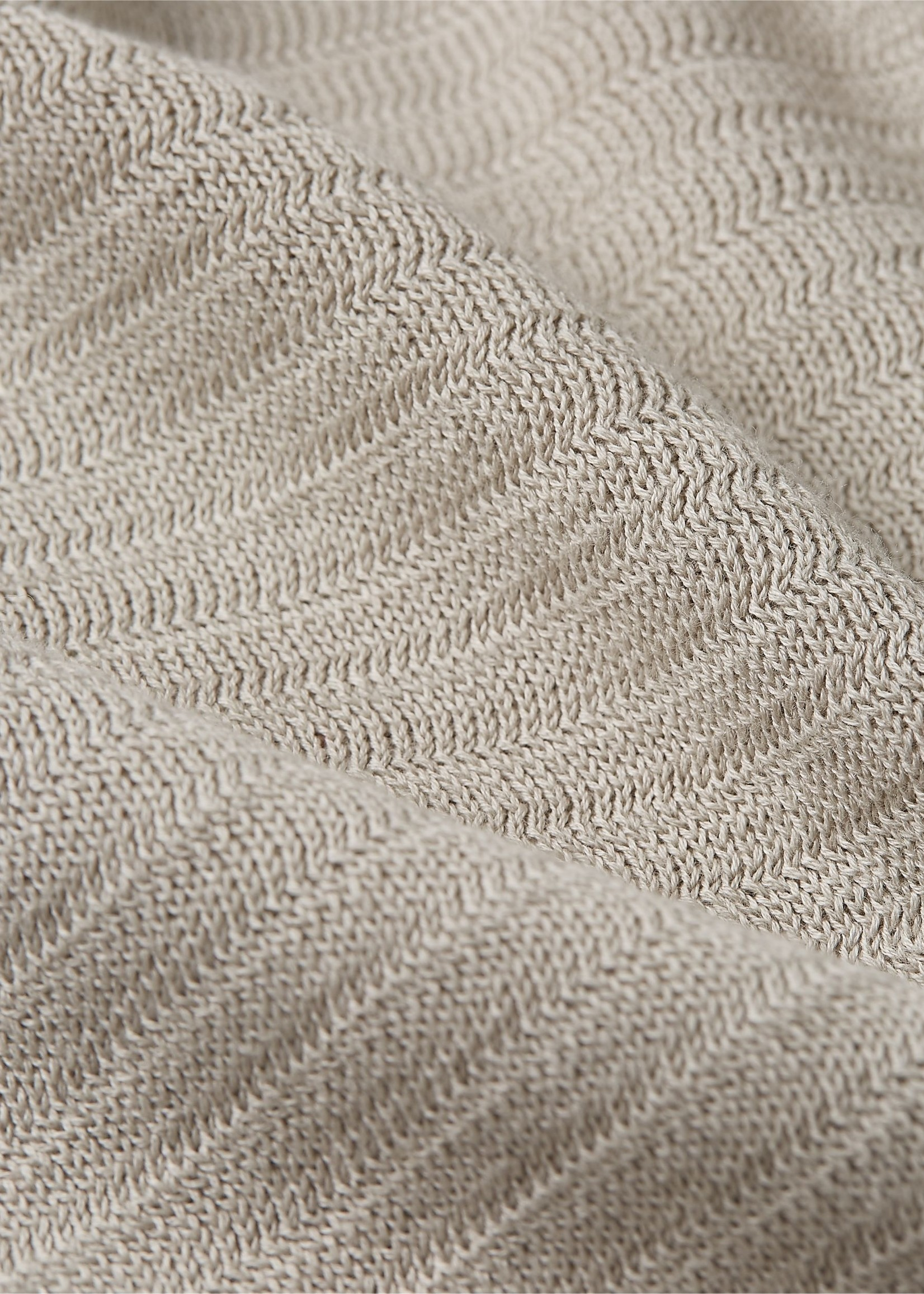 Tommy Hilfiger Vest met rits en gestreepte textuur | Beige | Tommy Hilfiger