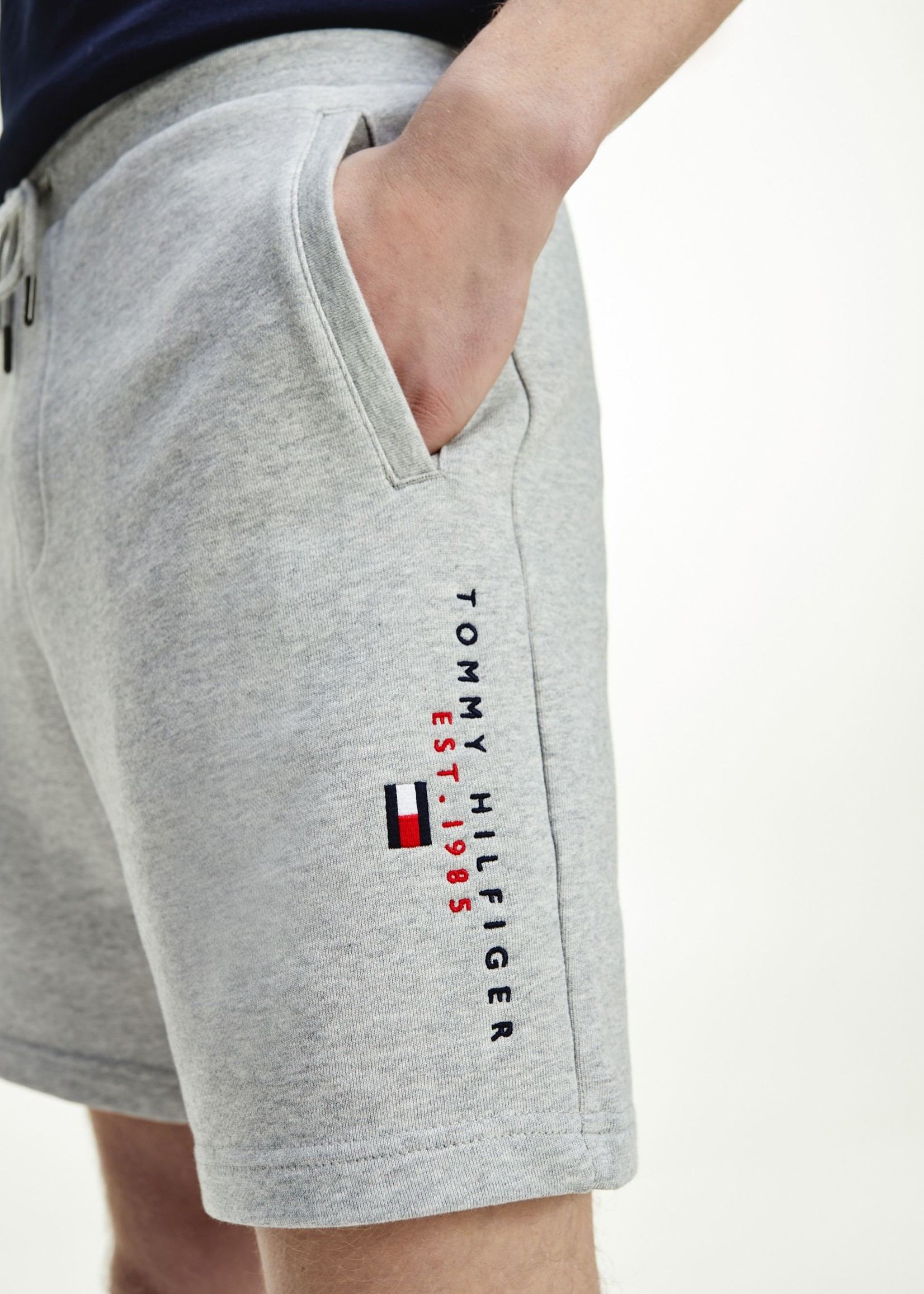 Tommy Hilfiger Essential joggingshort van biologisch katoen | Grijs | Tommy Hilfiger