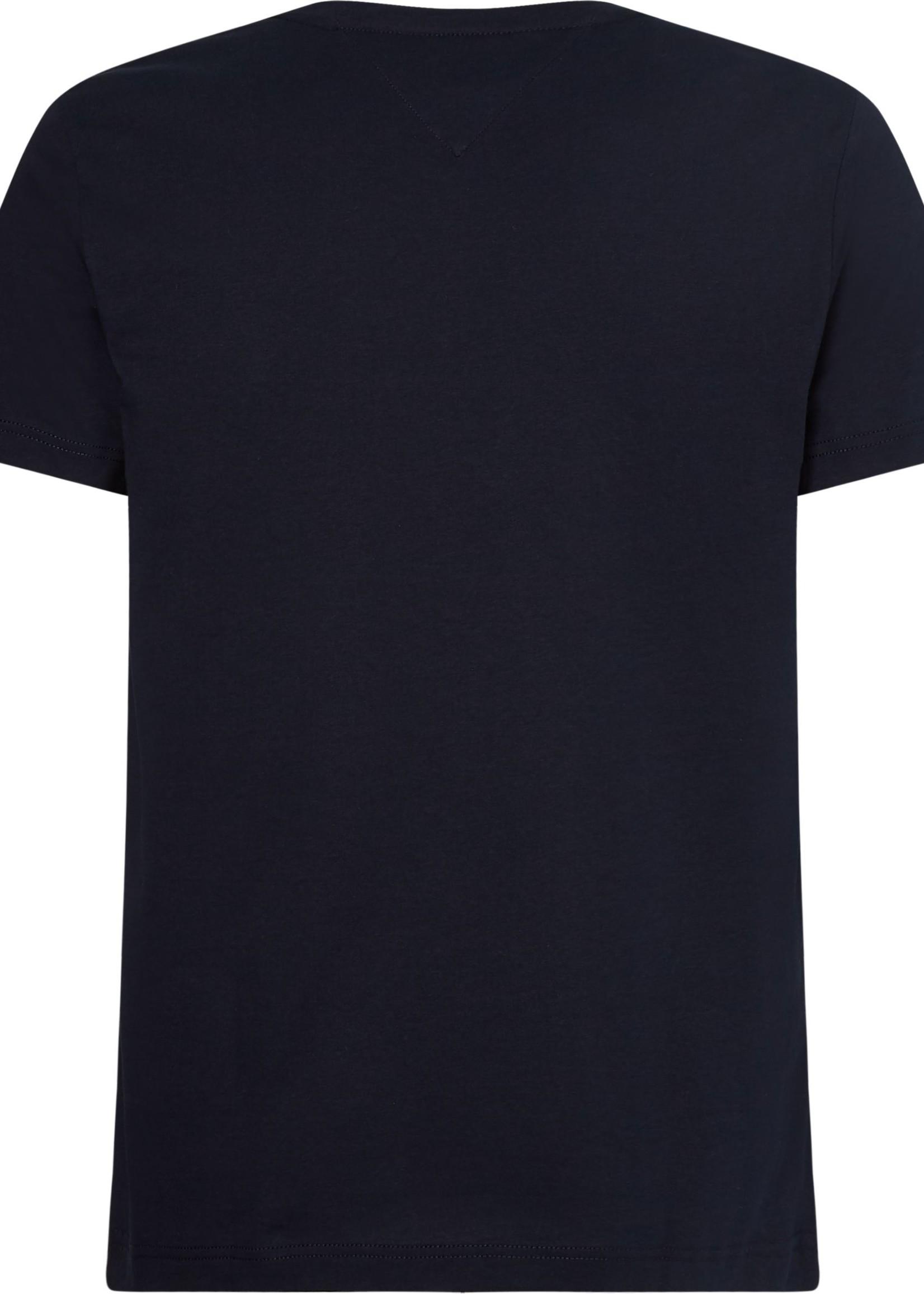 Tommy Hilfiger Signature Detailing Organic Cotton T-Shirt | Blue | Tommy Hilfiger
