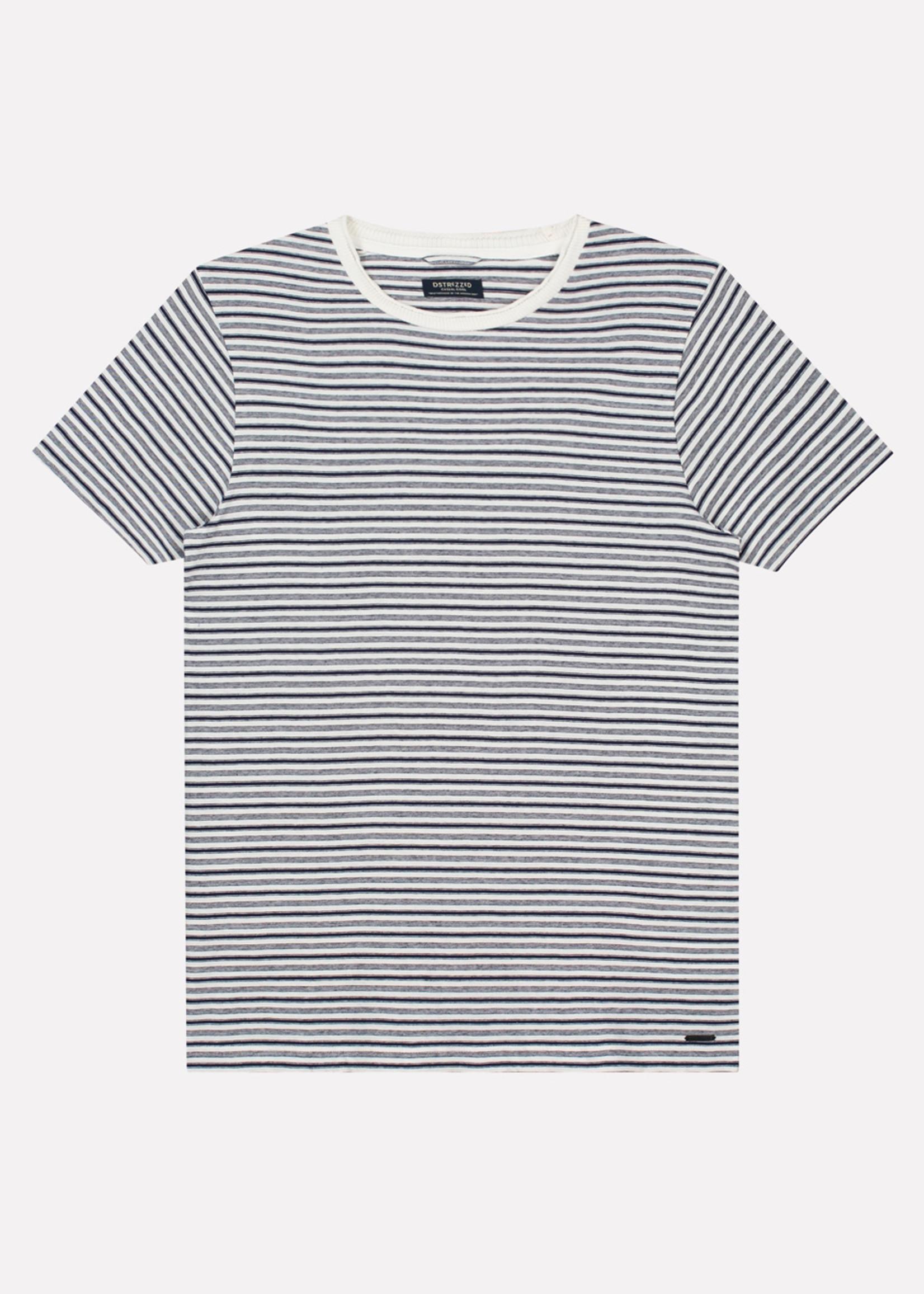 Dstrezzed T-shirt met streep | White | Dstrezzed